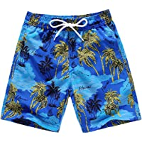 EULLA Bañador para chico, secado rápido, con cordón, para la playa
