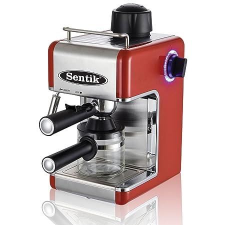 Sentik Profesional Expreso Capuccino Máquina De Café Hogar - Oficina - Rojo: Amazon.es: Hogar