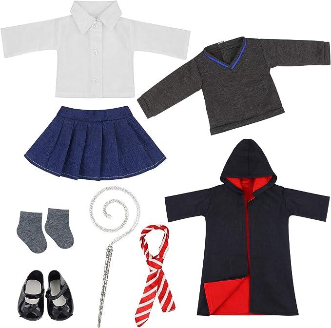 Amazon.es: ZITA ELEMENT 8 Piezas Magic Escuela Uniform Ropa Muneca ...