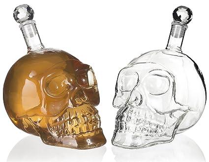 """Garrafa en el diseño de """"cráneo"""" - Transparente de aproximadamente 500 ml -"""