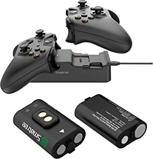 Smatree Rechargeable Batteries with Dual Charging Station Compatible with Xbox One/One X/One S/One Elite Wireless Controller