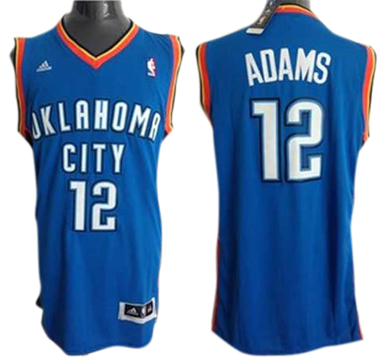 46aba4963 ... best price thunder 12 steven adams revolution 30 swingman blue jersey  size m amazon sports outdoors