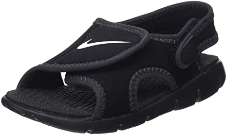 16c0cd43488 Nike Infant Toddler Little Kids Adjustable Sandals - Sunray Adjust 4 Soft  Shell Hook and Loop Closure BLACK/ANTHRACITE/WHITE 5 Toddler M: Amazon.in:  Baby