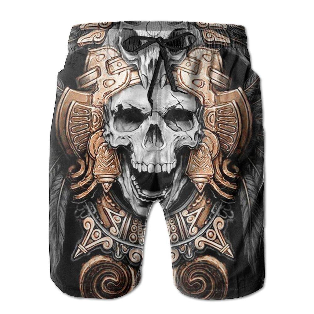 Comfortable Mens Sand Beach Pants Summer Surfer Water Dry Home Swimming Drawstring Dope Skull Board Shorts Pockets Jams