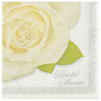 wedding roses bridal shower cocktail napkins 16ct