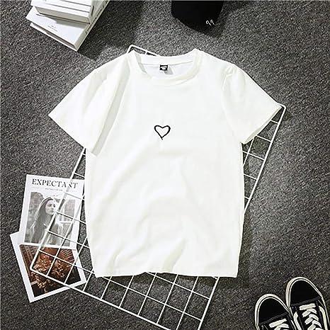 DAIDAINDX Moda Harajuku Estampado Camiseta Algodón Mujer ...
