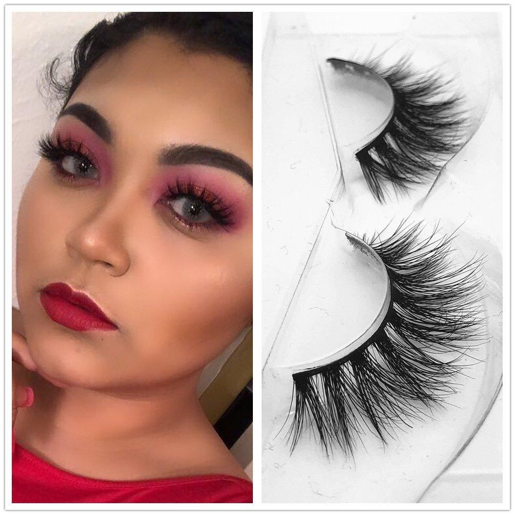 Amazon.com : 3d39 Lashes 1 pair 3D Handmade Thick Mink Eyelashes Natural False Eyelashes for Beauty Makeup fake Eye Lashes Nice Box (3D19) : Beauty