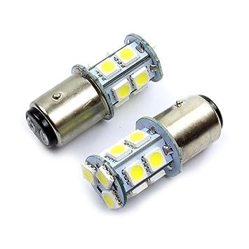 Rojo 2 X BAY15D P21/5 W lámpara halógena 12 V Auto lámpara Socket de