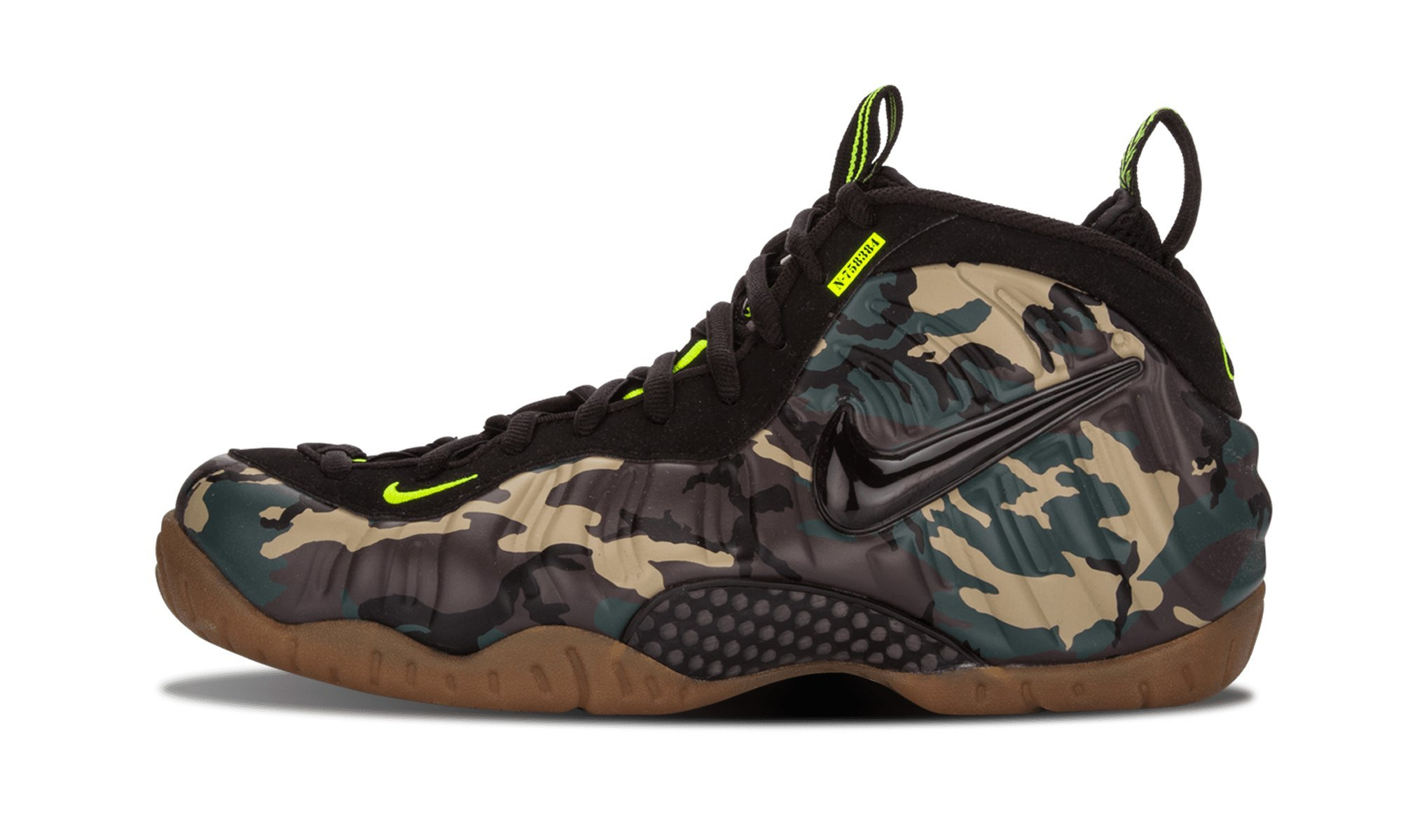 Nike Mens Air Foamposite Pro PRM LE Army Camo Synthetic Basketball Shoes