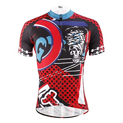 Amazon.com   LAOYOU POCK Mens Cycling Jersey Size S To 6XL   Sports ... 78fa87872