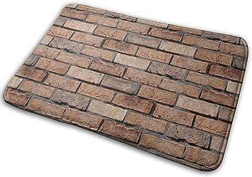 """Imagen deBLSYP Felpudo Wall of The Brick Doormat Anti-Slip House Garden Gate Carpet Door Mat Floor Pads 15.8"""" X 23.6"""""""