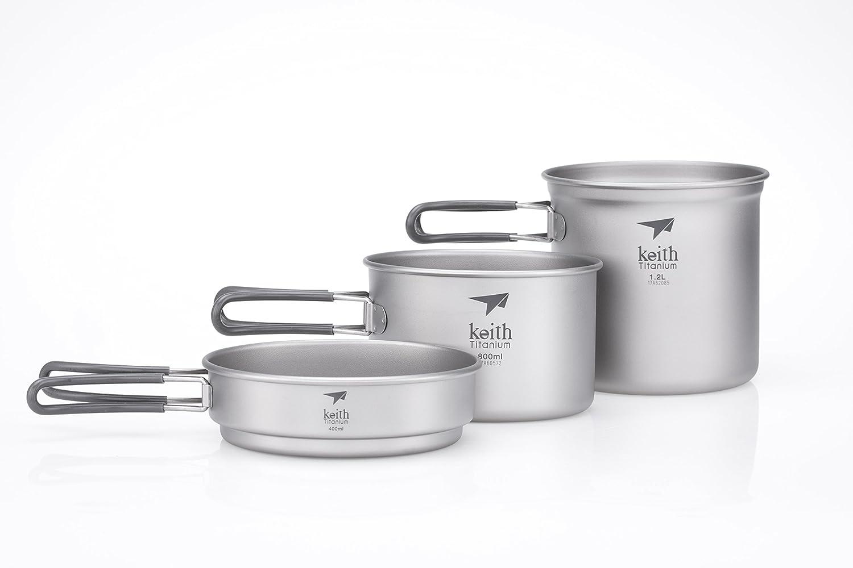 Keith KP6014 Camping Cookware Titanium Pot by Keith B00CIH9XQ0