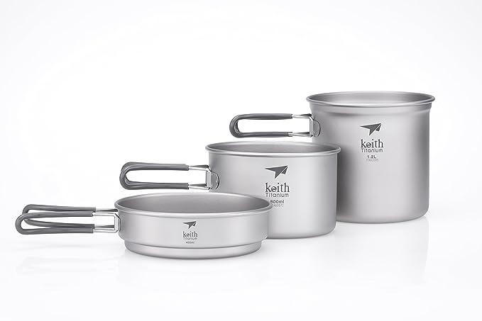 Amazon.com: Keith Titanium – Juego de cazuela y sartén Cook ...