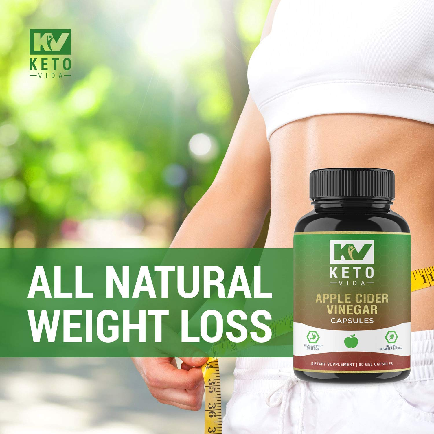 Apple Cider Vinegar Pills - Natural Detox and Weight Loss for Women and Men, Effective Cleanse to Help Digestion and Bloating Relief, Organic Extra Strength ACV Capsules by Keto Vida (Image #7)