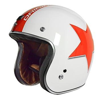 Origine Helmets Primo Astro - casco para moto, blanco y rojo, S