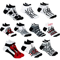 Marvel Spiderman Boys Assorted 10-Pack Athletic Low Cut No Show Socks, Youth Ages 3-7