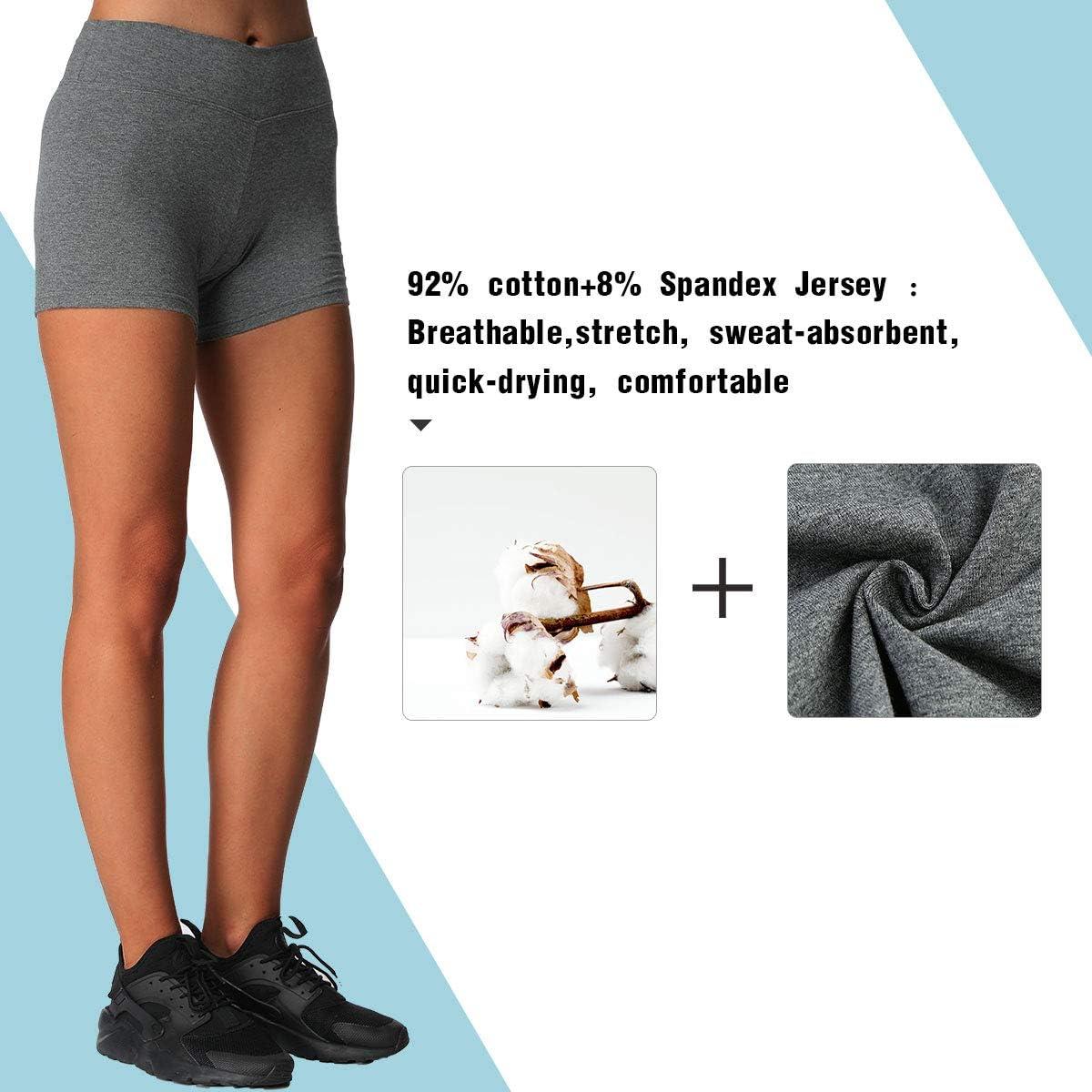 iLoveSIA Damen Yoga Shorts Baumwolle Shorts Hosen 2er Pack