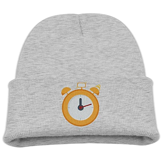 Amazon.com  WLF Kids Girls Boys Yellow Alarm Clock Daily Beanie Hat ... 7f61c7c7889