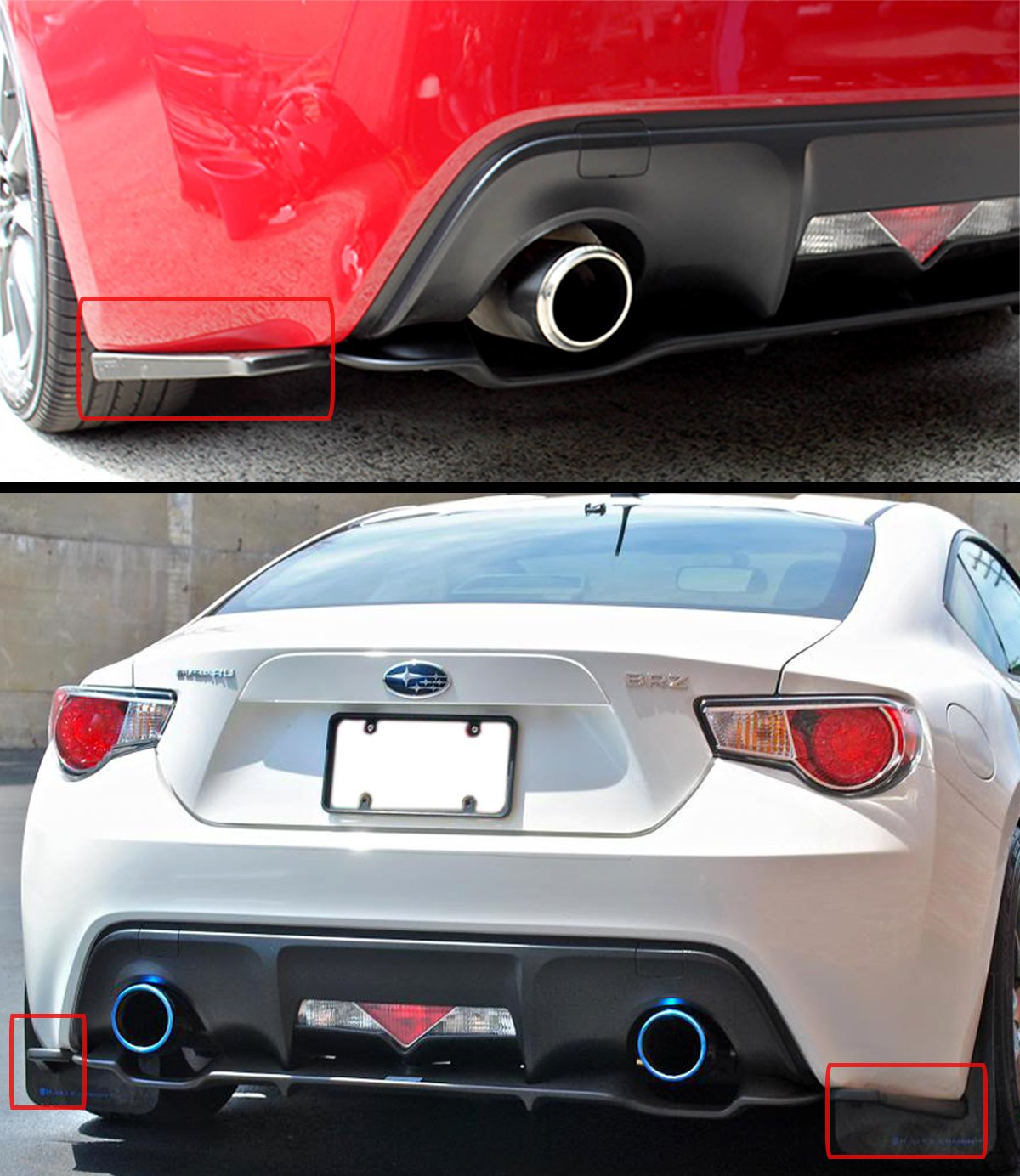 Fits for 2013-2016 Subaru BRZ /& Scion FR-S FRS 86 JDM Rear Bumper Aero Side Aprons