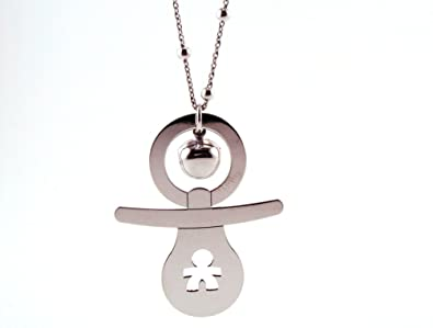 Llamador de ángeles con diseño de Chupete con niño, De Plata ...