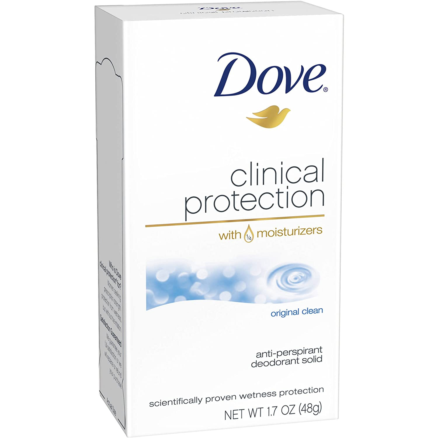Dove Clinical Protection Anti-Perspirant Deodorant Solid Original Clean 1.70 oz (Pack of 12)