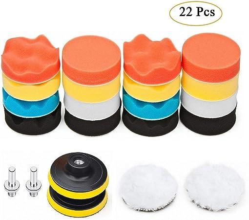 49+1Pcs Colorful Polishing Pads Sponge Wool Pads Car Polisher Buffing Pads New