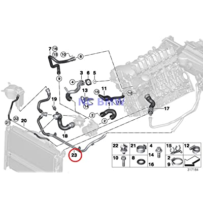 BMW Genuine Cooling Coolant Hose Heater Return - Thermostat Line 128i 128i 323i 325i 328i 330i 323i 328i 328i 328i 328i 328i 328i 328i: Automotive