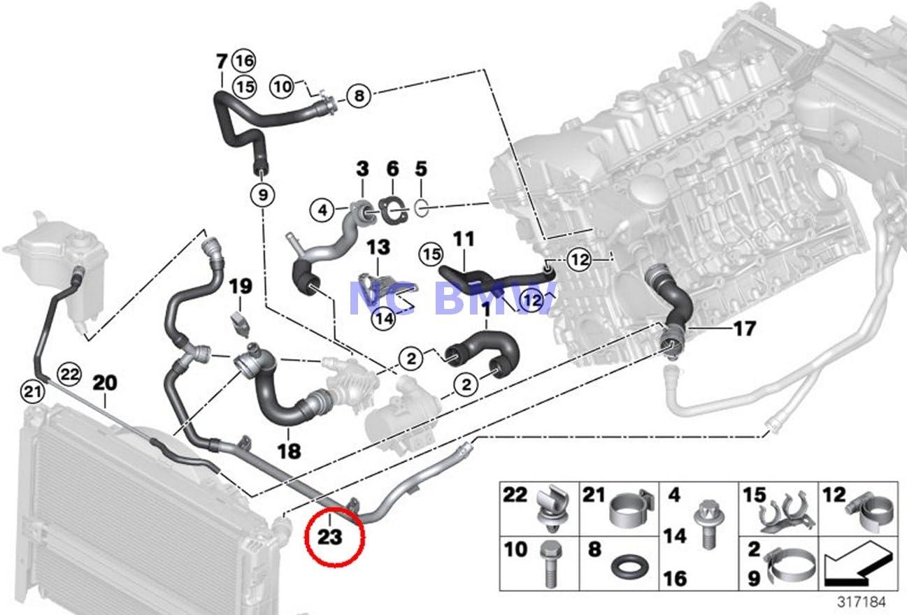 Amazon.com: BMW Genuine Cooling Coolant Hose Heater Return - Thermostat  Line 128i 128i 323i 325i 328i 330i 323i 328i 328i 328i 328i 328i 328i 328i:  AutomotiveAmazon.com