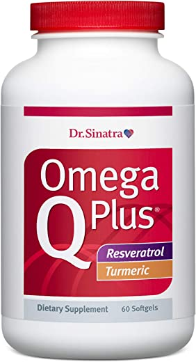 Dr. Sinatra's Omega Q Plus Resveratrol and Turmeric - Omega-3 Supplement with CoQ10 Support for Healthy Blood Flow, Blood Pressure, and Healthy Inflammatory Response (30 Day Supply)