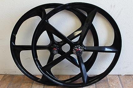cdc4670d09d Amazon.com : R4 700C 5-Spoke Magnesium Rims Single Speed Complete ...
