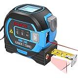 Laser Tape Measure Cross laser line 3 In 1, Laser Measure 131ft/40m, Measuring Tape 16ft/5m, Cross Line 32ft/10m…