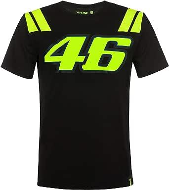 Valentino Rossi VR46 Moto GP The Doctor Negro Camiseta Oficial 2019