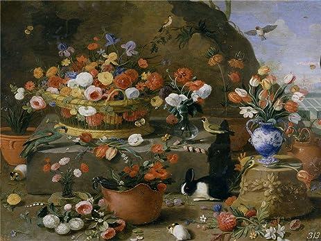 Amazon.com: Oil Painting \'Kessel The Elder Jan Van Bodegon De Flores ...