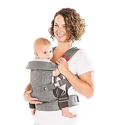 Fular Portabebés Canguro Ergonómico Ajustable Con Soporte Para Cabeza Del Bebé
