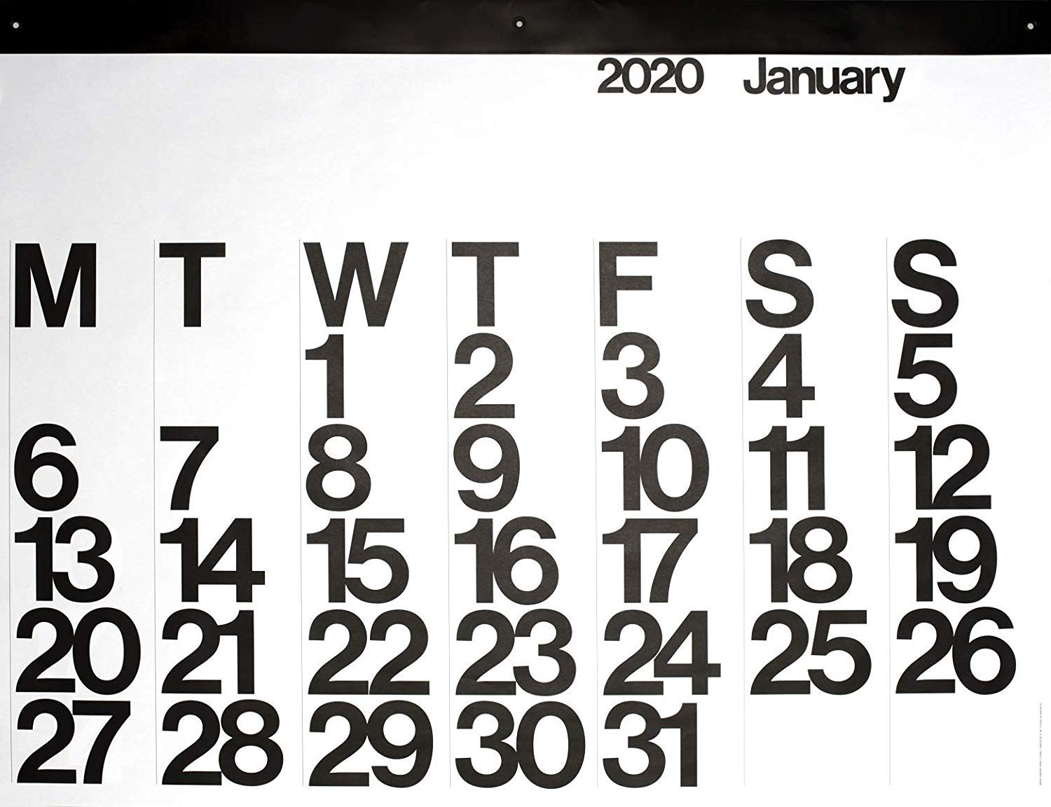 2020 Stendig Wall, Office, and Home Calendar | Authentic Original Design of Massimo Vignelli by Stendig