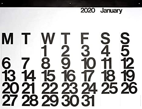 2020 Stendig Wall, Office, and Home Calendar | Authentic Original Design of Massimo Vignelli