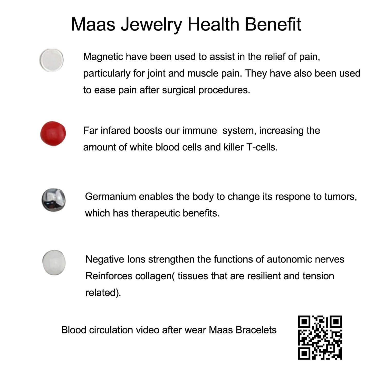 MagEnergy Women Bracelet Rose Gold Bracelets Arthritis Bracelets for Women with Free Removal Tool by MagEnergy (Image #7)