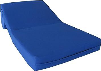 Amazon.com: Azul real Sleeper silla silla plegable de espuma ...