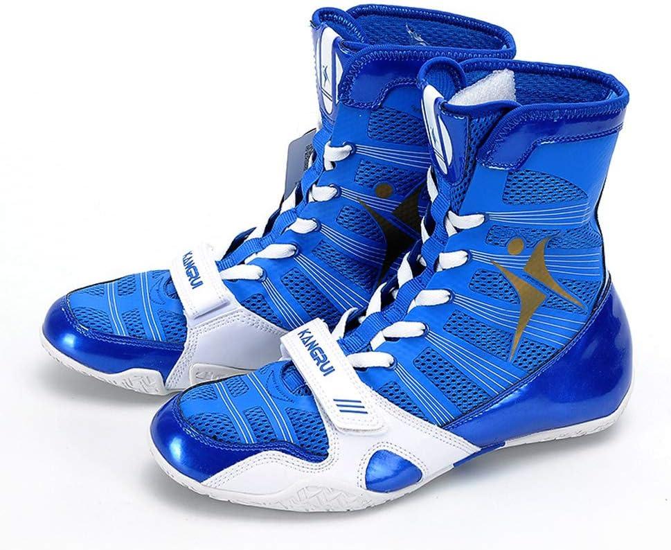 Chaussures De Boxe Chaussures Chaussures De Combat De Formation Sanda,Bleu,37 AIALTS Hommes Et Femmes Chaussures De Lutte De Comp/étition Professionnelle
