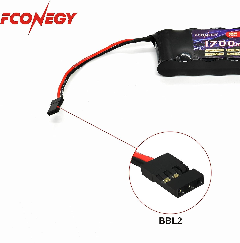 2pcs RC 4xAA Batterie Titulaire Avec Futaba Plug pour récepteur Voitures Heli Avions Bateaux