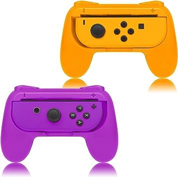 FYOUNG Grip para Nintendo Switch Joy-con Mandos Set, Cómoda Funda de Gamepad para Nintendo Switch Joy con Controller: Amazon.es: Electrónica