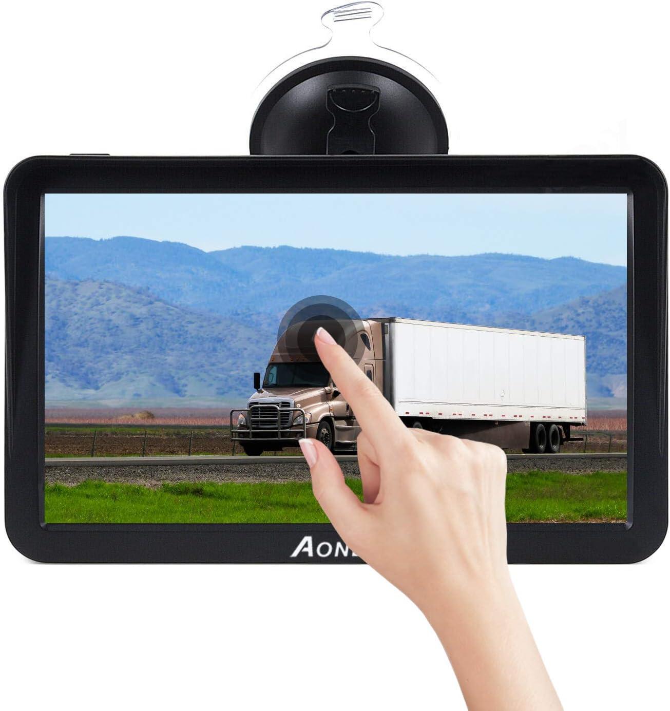 Aonerex GPS Navi f/ür Auto PKW KFZ Navigationsger/ät 9 Zoll Lebenslang Kostenloses Kartenupdate mit POI Blitzerwarnung Sprachf/ührung Fahrspurassistent 2020 Europa Karten Navigation f/ür LKW