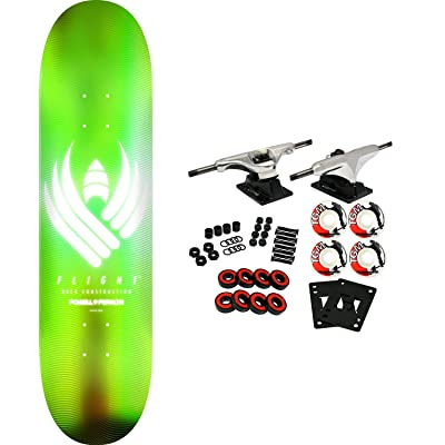 "Powell-Peralta Skateboard Complete Flight 02 245 Glow Lime 8.75"" x 32.95"" : Sports & Outdoors"