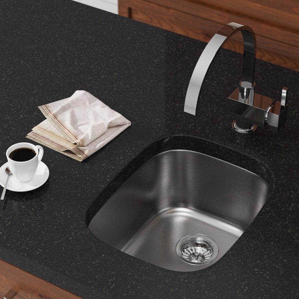 1815 16-Gauge Undermount Single Bowl Stainless Steel Bar Sink - Mr ...