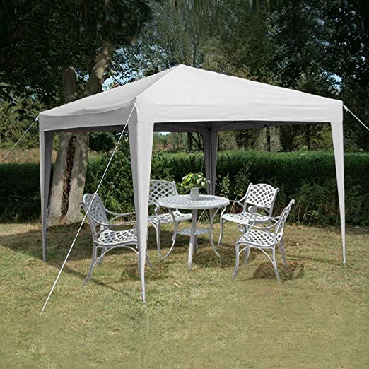 fam famgizmo 3x3m Waterproof Beige Pop Up Gazebo Frame & Canopy Marquee Tent (No Sides)
