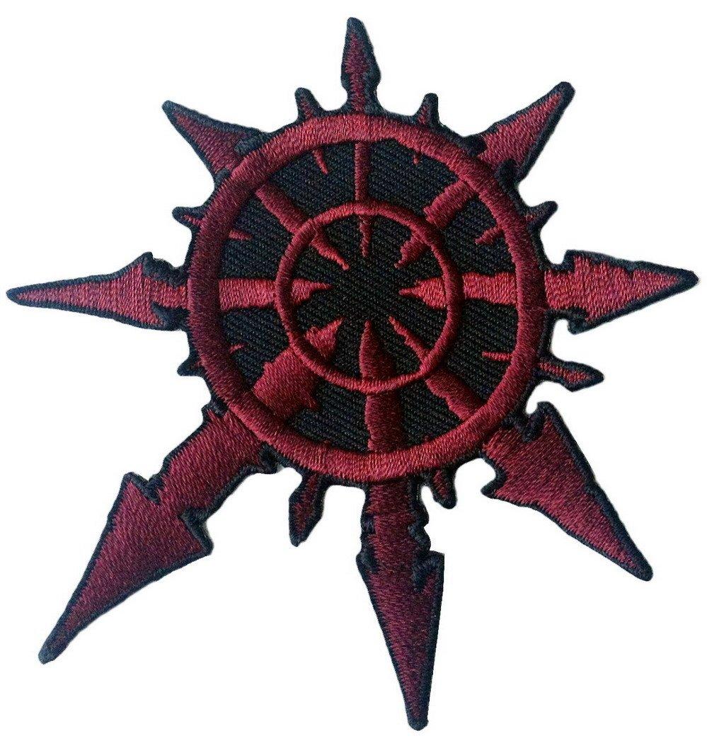 Amazon Red Chaos Star Of Undivided Warhammer 40k Jacket Biker Patch