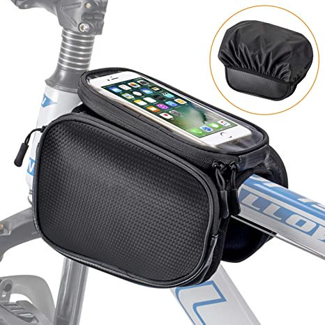 Bike Front Frame Saddle Bag Pannier Top Tube Pouch Phone Holder Cycling Large UK