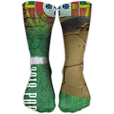 ... 337cd 6170f Portugal Football 2018 Women 3D Print Comfort Tall Boot  Socks Sneaker Athletic Socks stable ... 2df8faf6fb