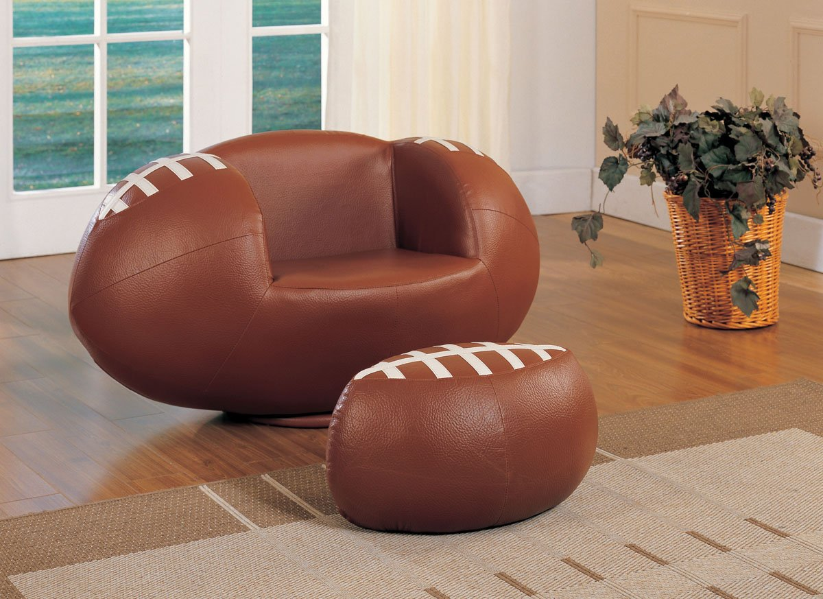 Amazon.com: Acme 05526 2 Piece All Star Football Chair And Ottoman Set:  Kitchen U0026 Dining