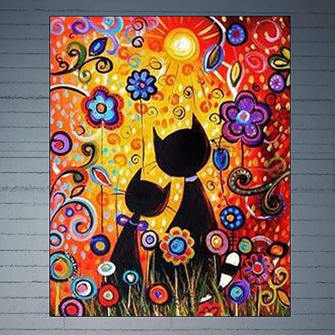 Senza Telaio con pennelli e pigmento Acrilico-40 x 50cm APERIL Dipingere con i Numeri er Adulti Bambini Faro